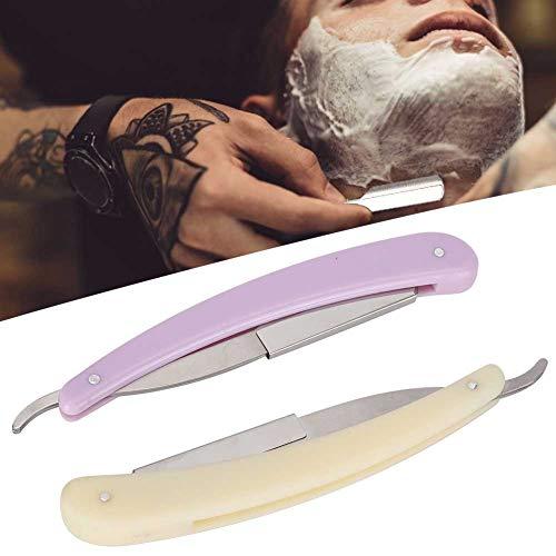 Changor Rasierer, professioneller Bartschneider Edelstahl und Kunststoff zur Verwendung in Friseurgeschäften (lila, weiß)