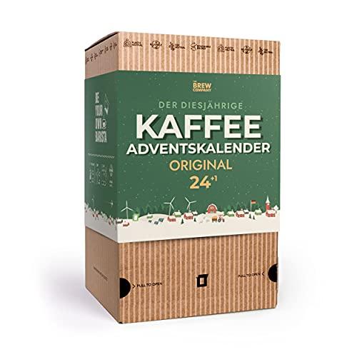 Gourmet Kaffee Adventskalender 2021 für Kaffeeliebhaber - 25 Coffee Brewer mit Gemahlene Kaffeebohnen Spezialitäten aus Aller Welt | Besondere Weihnachtskalender & Probierset für Mann & Frau