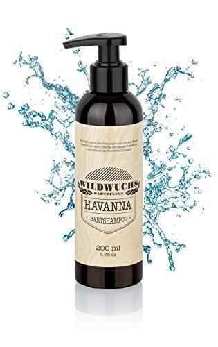 Bartshampoo HAVANNA von Wildwuchs Bartpflege - Bartseife Bart Shampoo Beard Wash reinigt schonend und...
