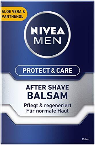 NIVEA MEN Protect & Care After Shave Balsam im (100 ml), beruhigendes After Shave, Hautpflege nach der Rasur...