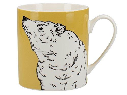 CREATIVE TOPS Tasse in die Wilde Bär, Stoff, gelb, 17x 12x 19cm