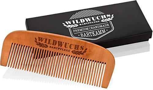 Bartkamm von Wildwuchs Bartpflege - Holz Bart Kamm Männer aus Echtholz im Geschenk Etui für einen...