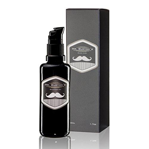 Mr. Burton´s Shaving Oil - 50ml Rasieröl zur sanften traditionellen Rasur verhindert Hautreizungen, pflegt...