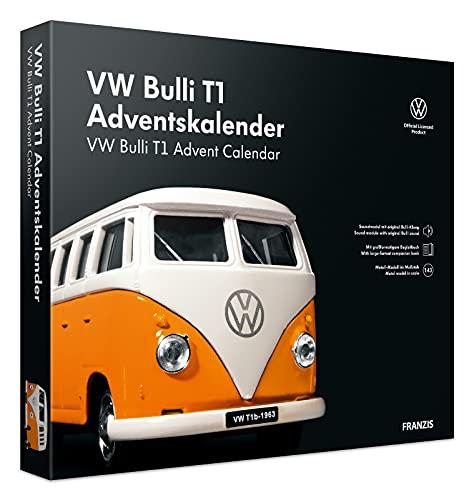 FRANZIS 55134 - VW Bulli Adventskalender 2021, in 24 Schritten zum Kult-Bus unterm Weihnachtsbaum, neue überarbeitete Edition 2021, für Kinder ab 14 Jahren