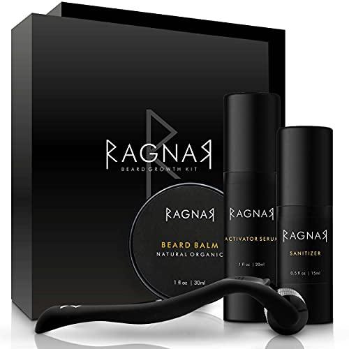 RAGNAR - Bart Set   Bartwuchsmittel für Männer   Bartwuchs fördern   Bartlücken schließen  ...