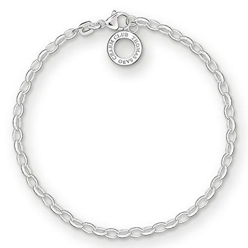 Thomas Sabo Damen Charm-Armband Classic Charm Club 925 Sterling Silber X0163-001-12
