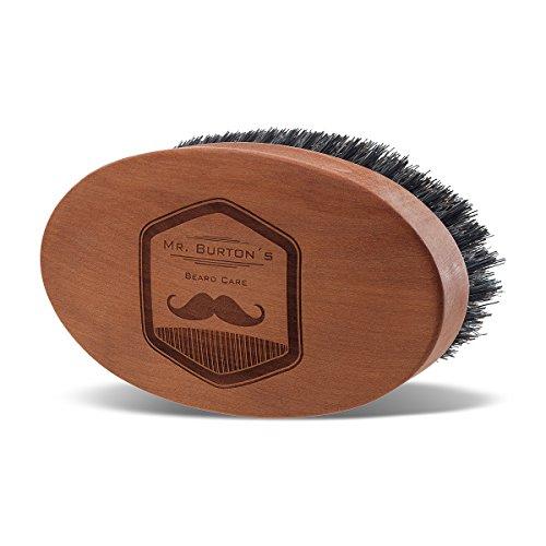 Mr Burton´s Luxus Bartbürste aus Echt! Holz Made in Germany mit 100% natürlicher Wildschweinborste.