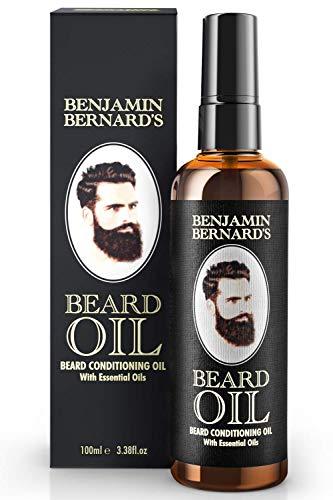 Bartöl - Beard Oil für Männer - Für gesundes Bartwachstum & einen gepflegten Stil - Leicht parfümiert,...