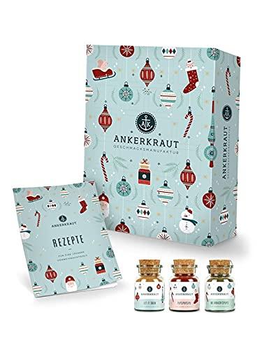Ankerkraut Premium Gewürz-Adventskalender 2021 | Weihnachtskalender mit 24 Gewürz-Überraschungen | Gewürz Kalender als Geschenk für Männer und Frauen | 1.365 g Gewürze enthalten