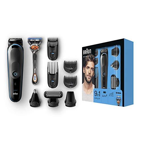 Braun 9-in-1 Multi-Grooming-Kit MGK5080, Barttrimmer und Haarschneider, Körperhaartrimmer, Ohren- und...