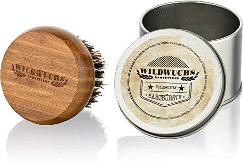 Bartbürste Wildschweinborsten von Wildwuchs Bartpflege aus Bambus Holz Bart Bürste Natur Beard Brush in...