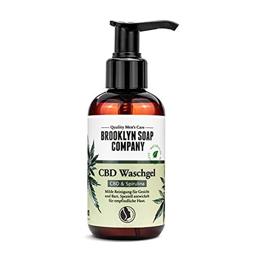 CBD Waschgel (150ml) · BROOKLYN SOAP COMPANY · Milde Bart- und Gesichtsreinigung für Männer · Zertifizierte Naturkosmetik