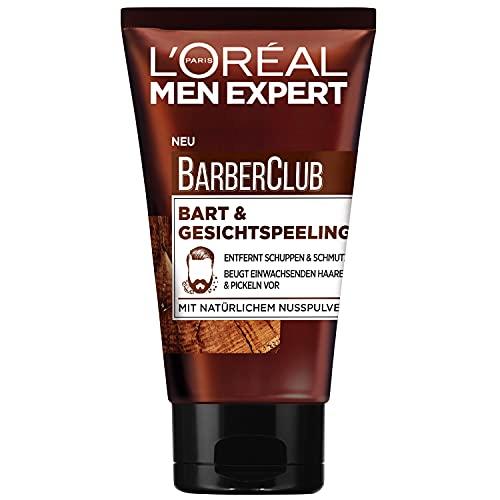 L'Oréal Men Expert Gesichtspflege für Männer, Peeling gegen Schuppen und Schmutz, Barber Club Bart- und Gesichtspeeling, 1 x 100 ml