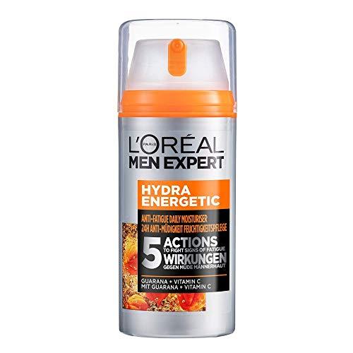 L'Oréal Men Expert Gesichtspflege für Männer, Feuchtigkeitscreme mit Guarana und Vitamin C, Hydra Energy...