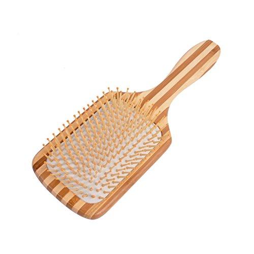Haarbürste Massage aus Bambus Ventbürste Männer Damen Herren Wildschweinborsten fein Bartkamm mit naturborsten Friseur Hairbrush Anti statische für langes, dickes, dünnes, lockiges & nasse Haare