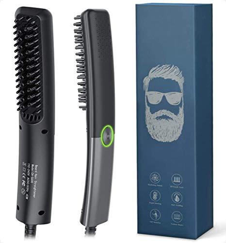 Bartglätter Kamm für Männer, Lidasen Elektrischer Haarglätter Bart Bürste Schnelle Sichere Einstellbare...
