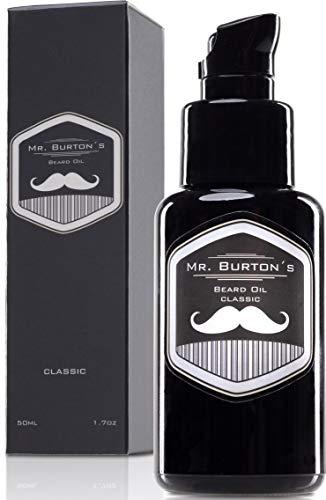 Bartöl - Mr. Burton´s Beard Oil - classic - Made in Germany-50ml Bart Öl für die Bartpflege - mit Arganöl...