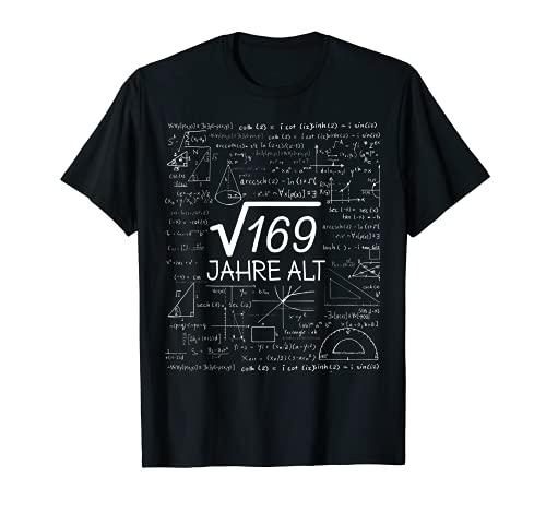 13. Geburtstag Teenager Wurzel 169 = 13 Jahre 2008 Geschenk T-Shirt