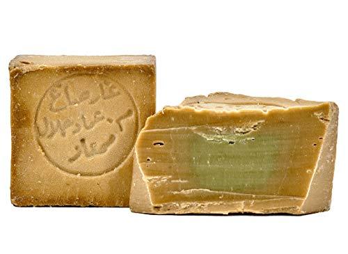 Carenesse Original Aleppo Seife 80% Olivenöl 20% Lorbeeröl ca. 200 g Olivenölseife traditionelle Handarbeit...