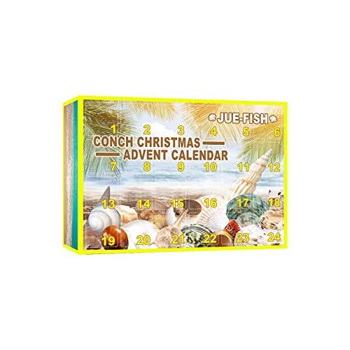 goodjinHH 01 Weihnachten Adventskalender Kinder,Weihnachtsmuschel Blindbox Weihnachtsatmosphäre Festliche Überraschungs Blindbox,24-Weihnachtsfeiertags Countdown Kalender, (A)