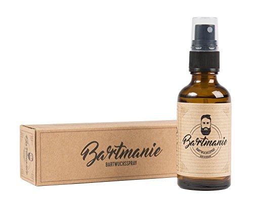 Bartmanie Bartspray zur Bartpflege und Förderung des Bartwuchses, Bartwuchsmittel für einen kräftigen und...
