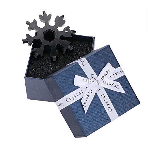Saker 18-in-1 Edelstahl Schneeflocken Multifunktionswerkzeug Schwarz mit Geschenkbox