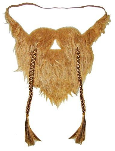 Körner Festartikel Wikinger Bart zum Kostüm - Vollbart Rotblond zum Umhängen für Erwachsene