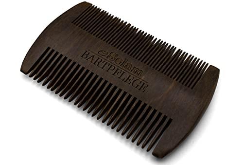 Premium Bartkamm aus Sandelholz mit doppelter Zahnung - Bartpflege - eSelam