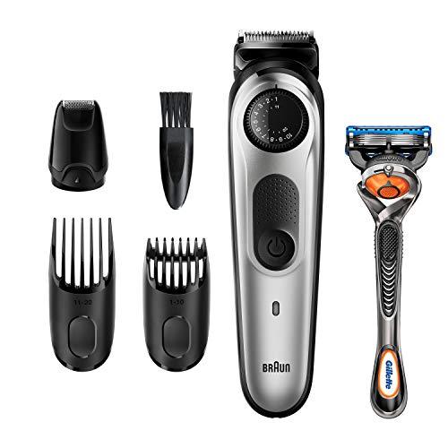 Braun BT5265 Barttrimmer und Haarschneider für Herren, 39Längeneinstellungen, schwarz/silber-metallic