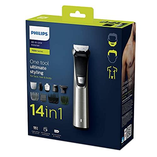 Philips MG7745/15 Multigroom Series 7000, 14 Aufsätze für Gesicht, Haare und Körper