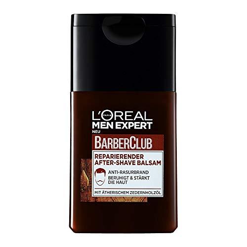 L'Oréal Paris Men Expert After Shave Balsam gegen Rasurbrand, Rötungen und Hautirritationen, Barber Club, 1...
