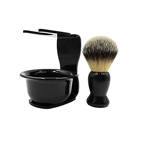 CINEEN 3 In1 Rasierset mit Rasierpinsel, Seifenschale und Halter - Rasur Geschenk Set Rasierseifenschale – Verbessern sie Ihre Rasiererfahrung jetzt