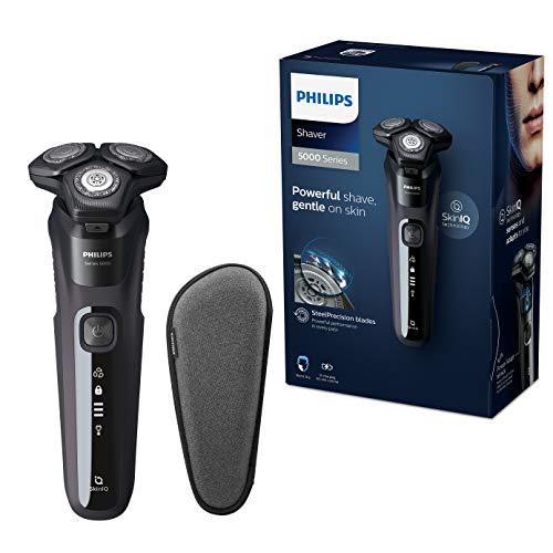Philips Series 5000 Elektrischer Nass- und Trockenrasierer S5588/30, Leistungsstarke & sanfte Rasur,...