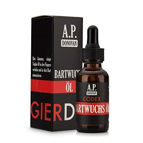 A.P. Donovan – Bartwuchsöl | Bartwuchsmittel für Männer | Öl zur Förderung des Bartwuchs | 30ml | CODEX...
