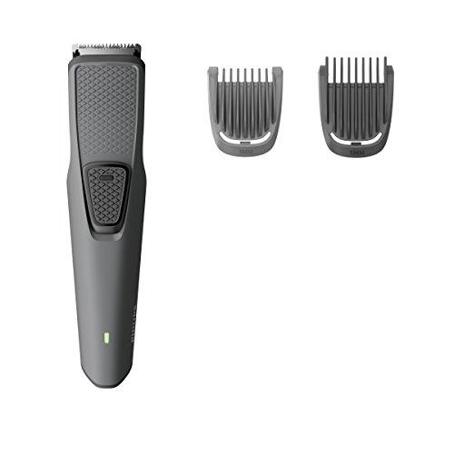 Philips Beardtrimmer Serie 1000 BT1209/15 Barttrimmer – Barttrimmer (3,2 cm, 1 mm, Bart, Grau, Edelstahl, Akku)