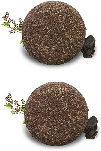 Hair Darkening Shampoo Bar,Solid Shampoo Bar Hair Soap Bar Shampoo For Oily & Damaged Hair Helps Stop Hair Loss And Promotes Healthy Hair Growth(2pcs)
