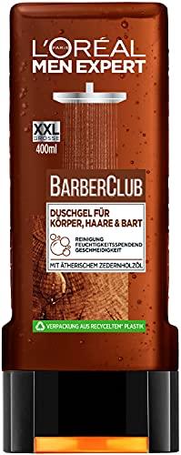 L'Oréal Men Expert Barber Club Duschgel XXL für Körper, Haare & Bart, 400 ml
