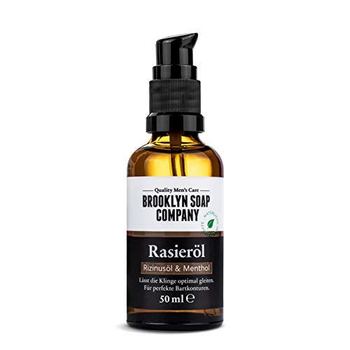 Natürliches Öl für die Rasur: Shaving Oil Rasieröl (50 ml) Naturkosmetik der BROOKLYN SOAP COMPANY...