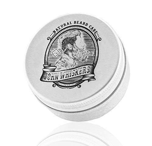 John Whiskers Bartwachs Made in Germany - natürliches & veganes Bart Balsam - süßlich herber Duft - für...