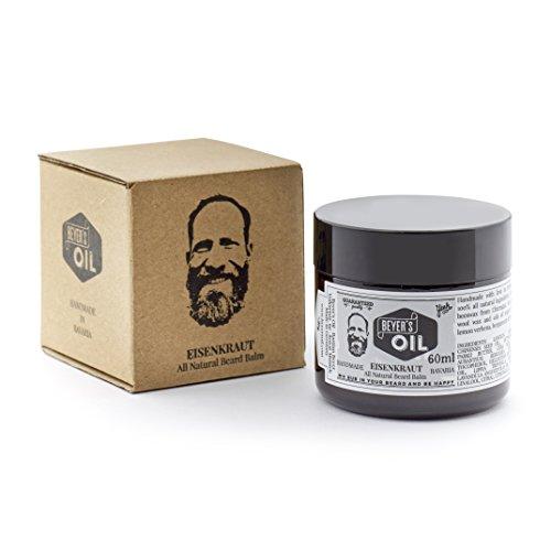 Beyer's Oil Beard Balm Eisenkraut 60ml - Bartpflege Balsam - Handgemacht in Bayern - 100% natürlich - Mit...