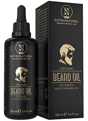 BIO Bartöl Vegan 100ml - DOPPELTE GRÖßE - Intensive Bartpflege - Bart Öl mit Einzigartigem Männlichen...