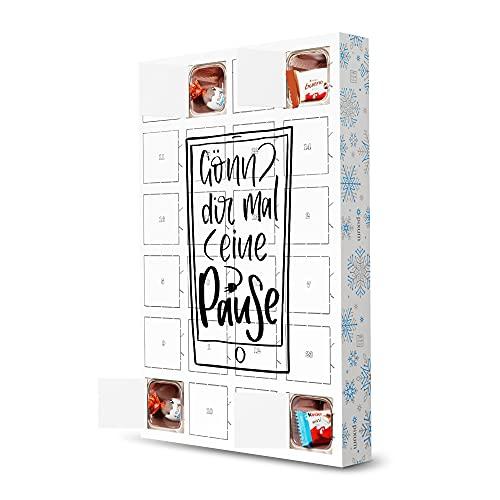 artboxONE Adventskalender mit Produkten von Kinder® Handypause Adventskalender Typografie