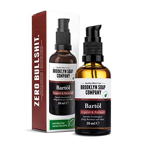Bartöl (50ml) · BROOKLYN SOAP COMPANY · Bart Öl für die tägliche Bartpflege von 3-Tage-Bart oder...