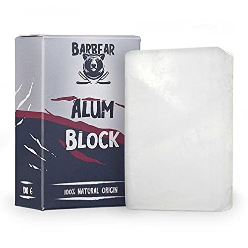 Barbear   Alaunstein   100g Jumbo Size  100% Natur   geruchsneutrales After Shave   Deodorant-Alternative   handgeschliffener Stein   beruhigt die Haut
