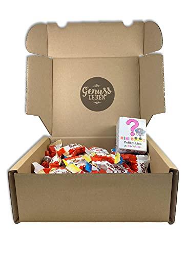 Genussleben Box mit Kinder Happy Moments 324g und 1 Paw patrol Mini Boos zufällige Auswahl, Mischung aus Süßigkeiten in Großpackung und Spielzeug