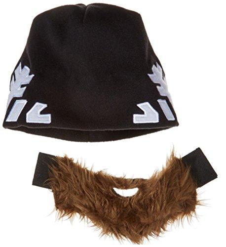 Bart-Mütze (Hangover) - Snowflake Edition - Spaßmütze mit abnehmbaren Bart und Schneeflocken-Muster -...