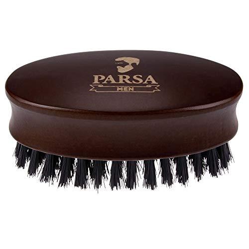 PARSA MEN Vegane Bartbürste macht den Bart weicher, formt, reinigt pflegt jeden Bart Härtegrad medium