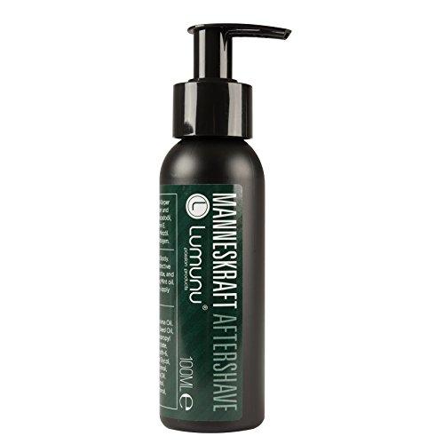 Deluxe Aftershave Lotion für Ihn MANNESKRAFT (100ml), kühlendes After Shave Balsam für Gesicht & Körper...