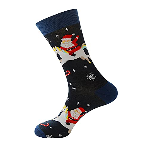 BIBOKAOKE Weihnachtssocken Herren Damen Kuschelsocken Flauschige Socken Weihnachten Socken Lustige Winter Warme Socken Christmas Wichtelgeschenk Geschenk für Frauen Männer Sportsocken