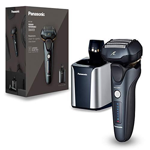 Panasonic ES-LV97-K803 Nass/Trocken-Rasierer, 5-fach-Scherkopf mit Linearmotor, inklusiv Reinigungs- und...